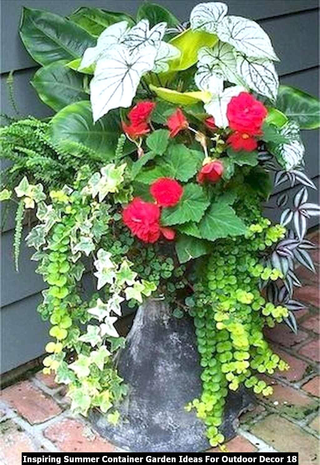 Inspiring Summer Container Garden Ideas For Outdoor Decor 18