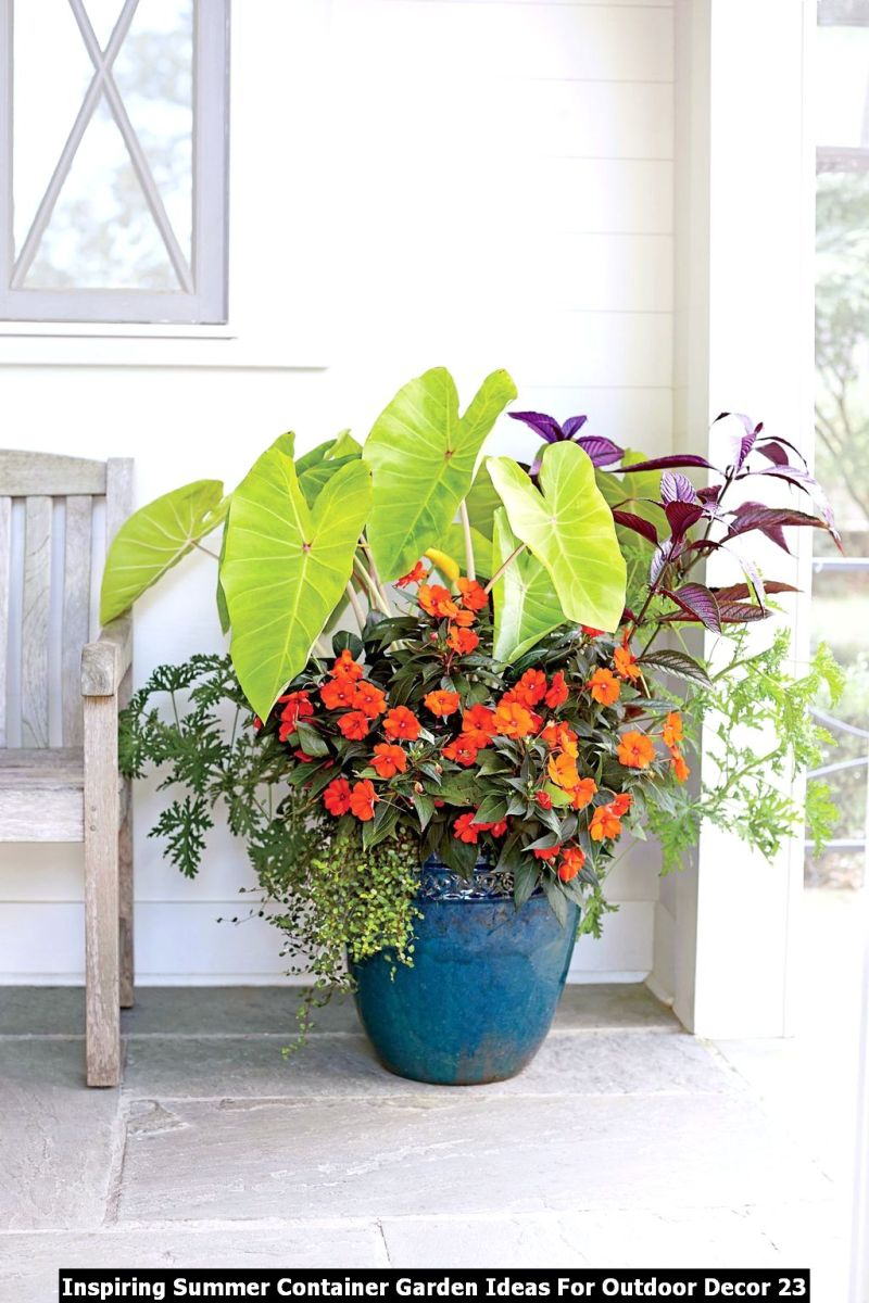 Inspiring Summer Container Garden Ideas For Outdoor Decor 23