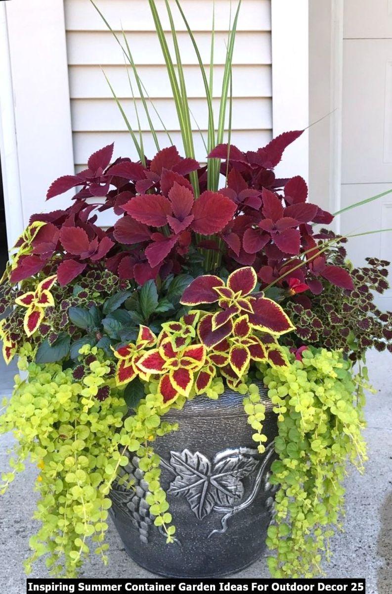 Inspiring Summer Container Garden Ideas For Outdoor Decor 25