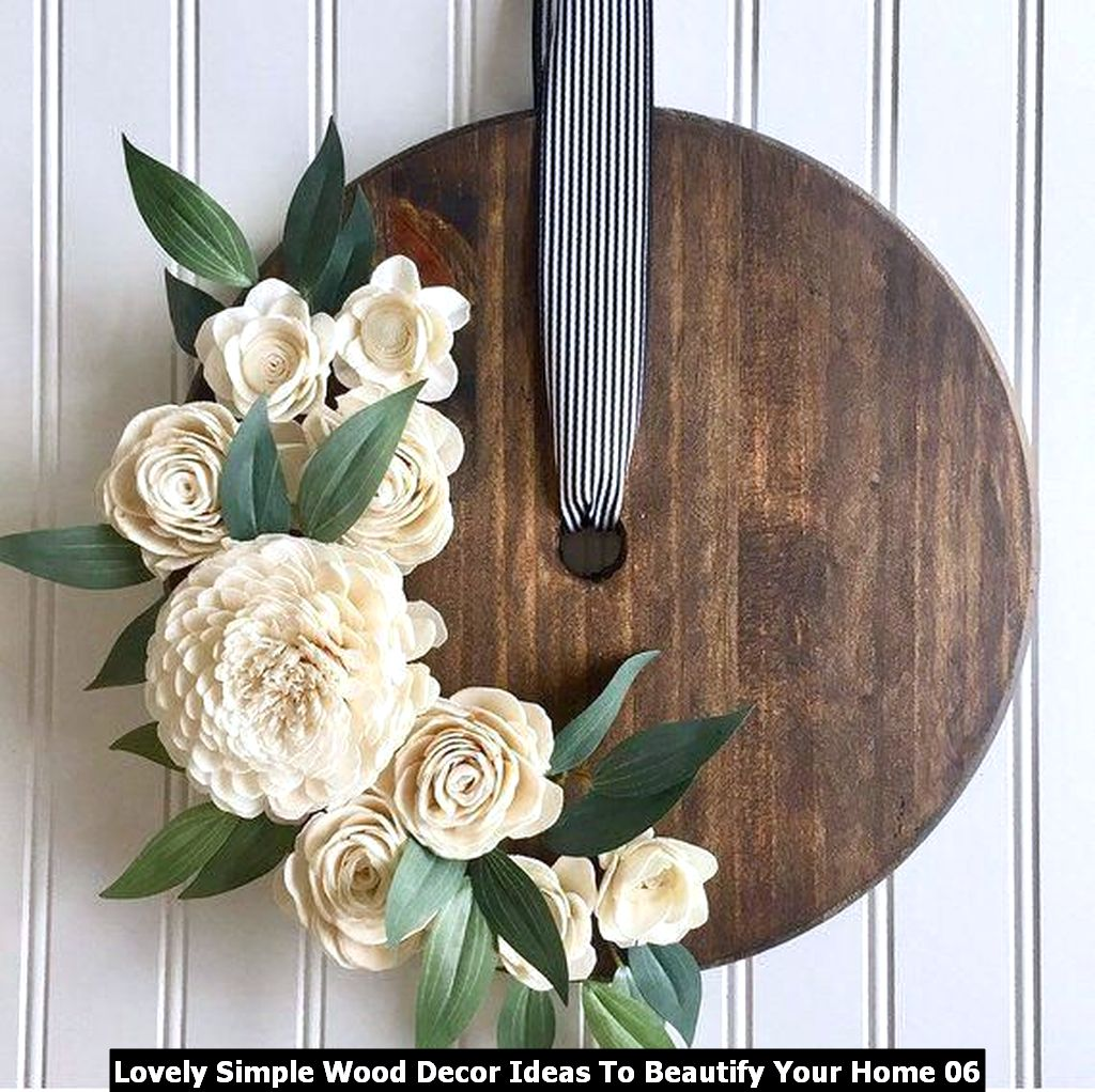 Lovely Simple Wood Decor Ideas To Beautify Your Home 06