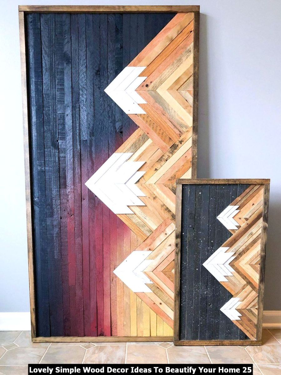 Lovely Simple Wood Decor Ideas To Beautify Your Home 25