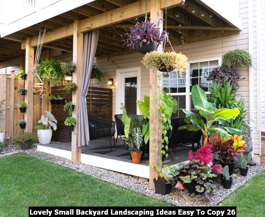 Lovely Small Backyard Landscaping Ideas Easy To Copy 26