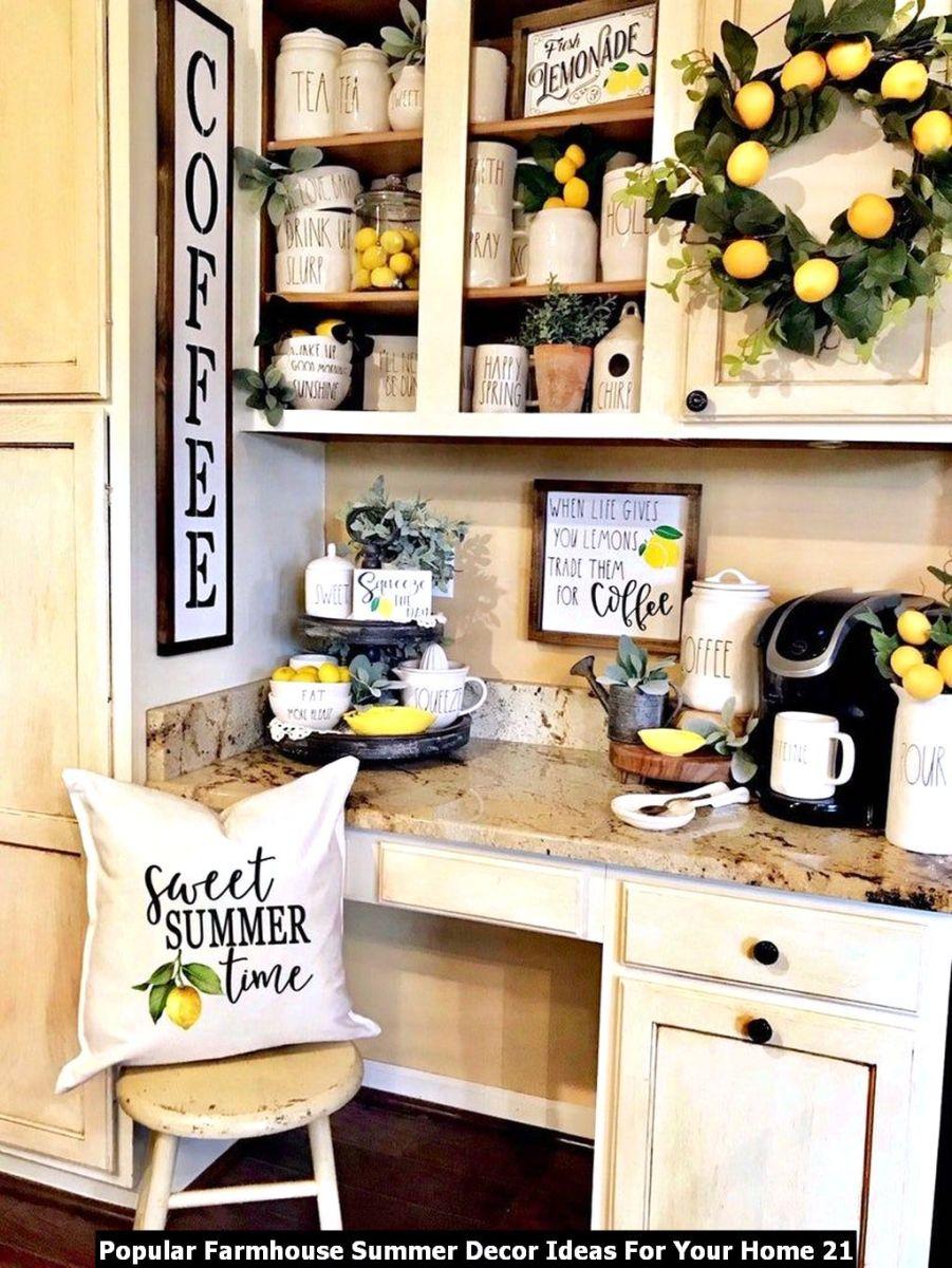Popular Farmhouse Summer Decor Ideas For Your Home 21