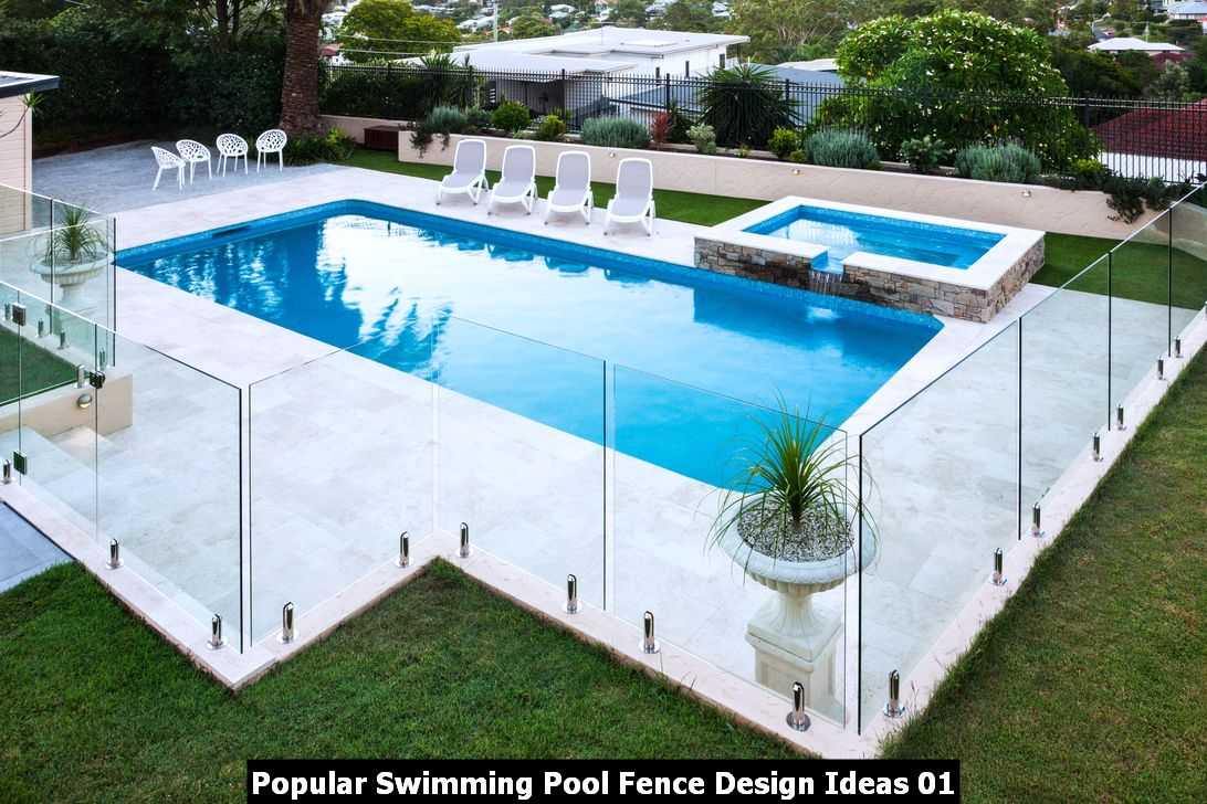 Popular Swimming Pool Fence Design Ideas 01