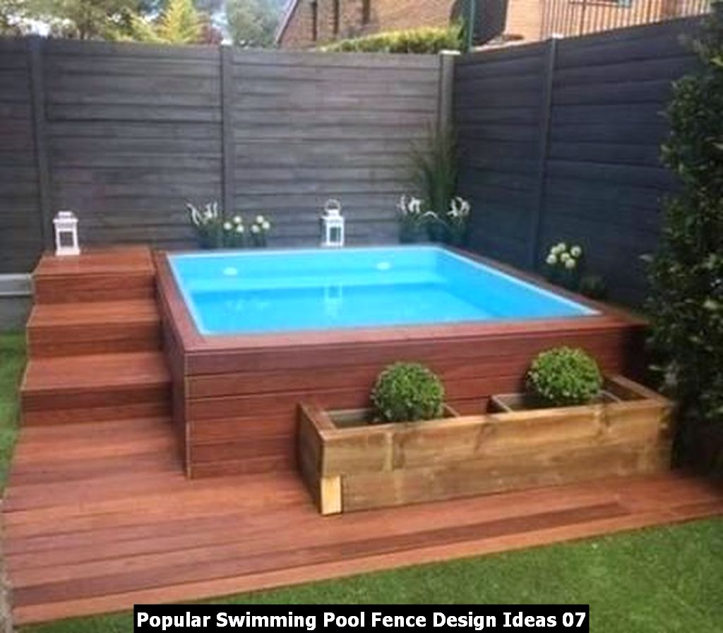 Popular Swimming Pool Fence Design Ideas 07