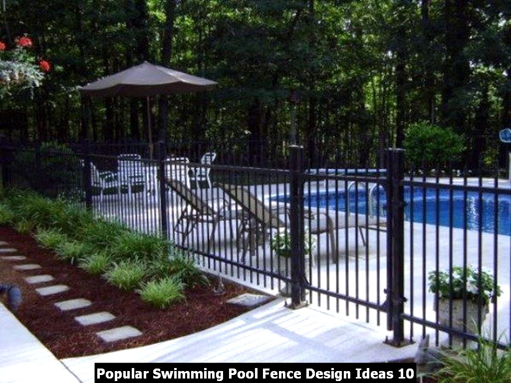 Popular Swimming Pool Fence Design Ideas 10