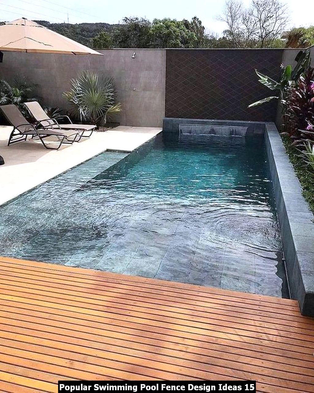 Popular Swimming Pool Fence Design Ideas 15