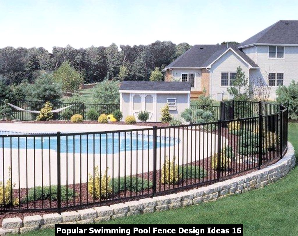 Popular Swimming Pool Fence Design Ideas 16