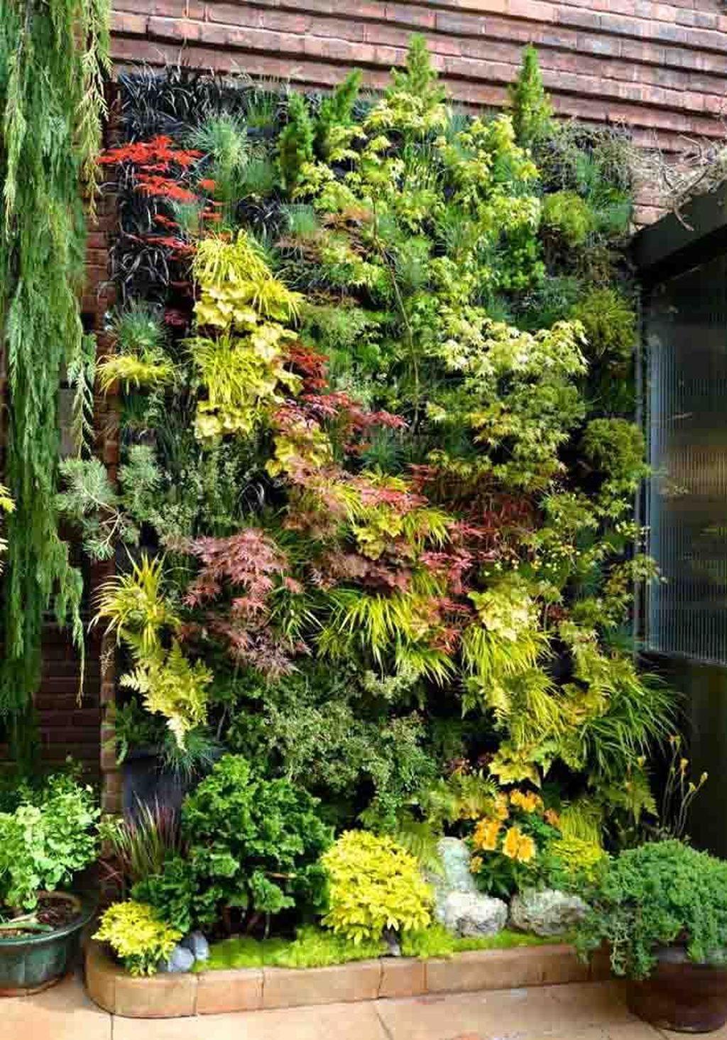 Popular Vertical Garden Wall For Outdoors Decor 25