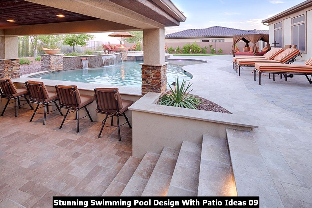 Stunning Swimming Pool Design With Patio Ideas 09
