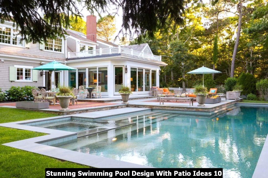 Stunning Swimming Pool Design With Patio Ideas 10