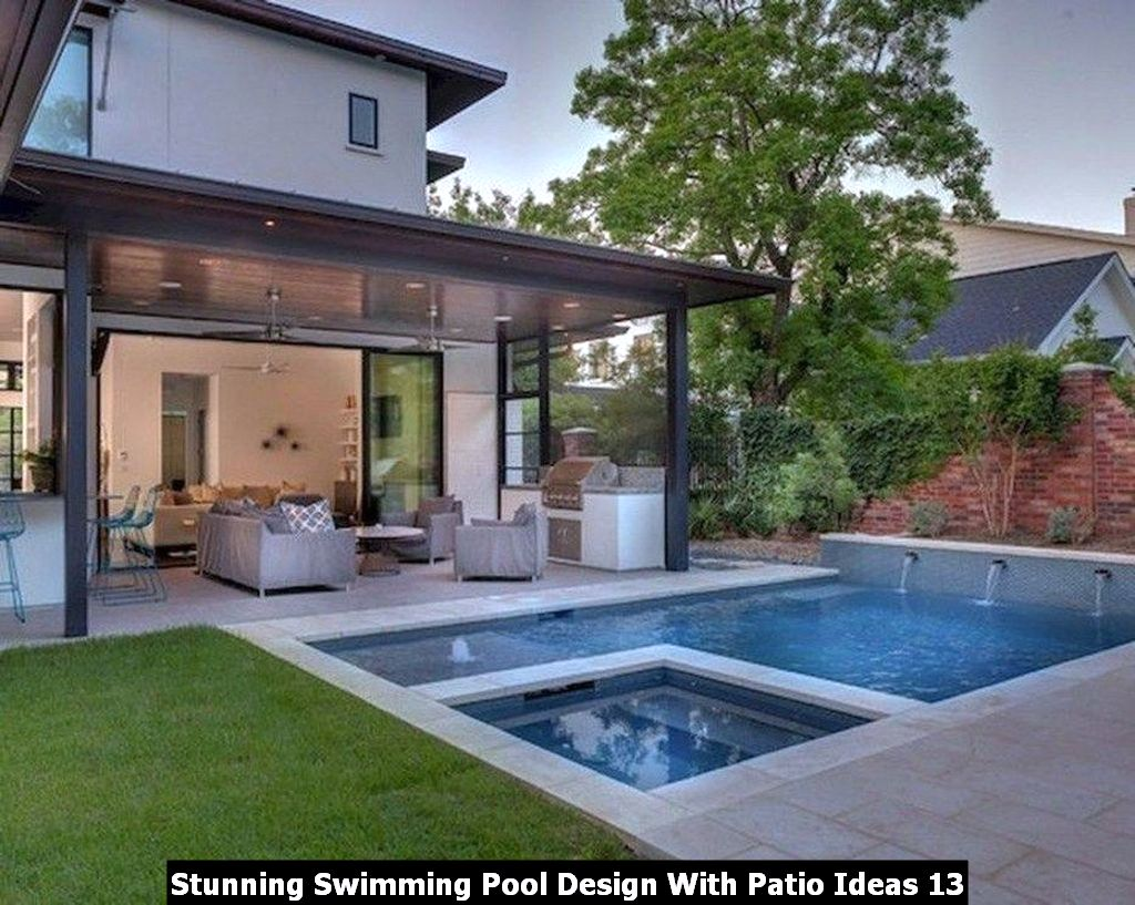 Stunning Swimming Pool Design With Patio Ideas 13