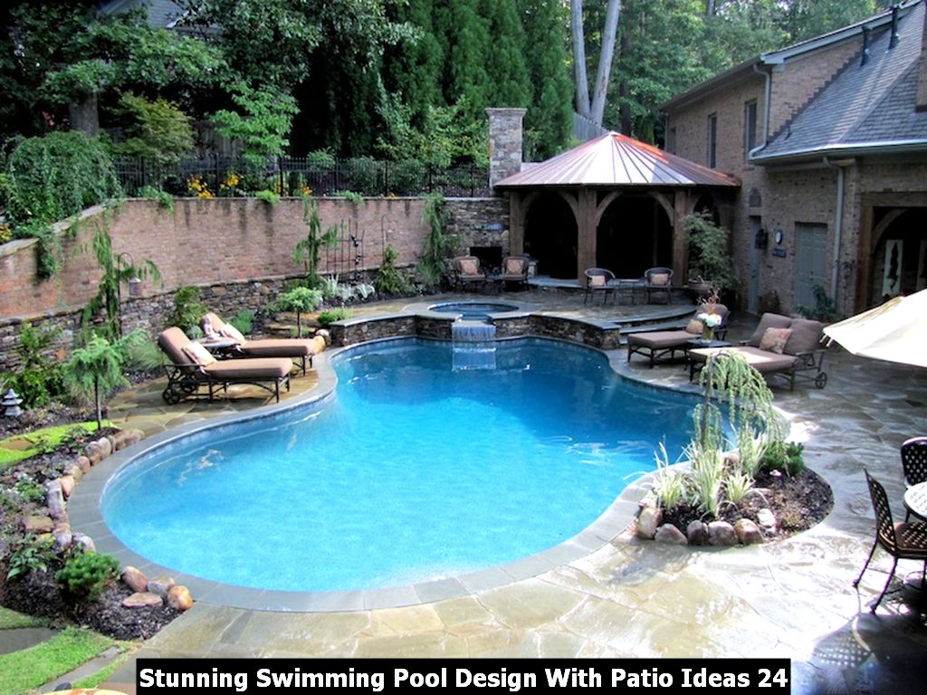 Stunning Swimming Pool Design With Patio Ideas 24
