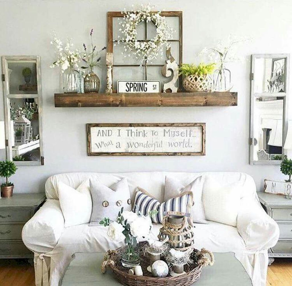 Stylish Rustic Living Room Decor Ideas 14