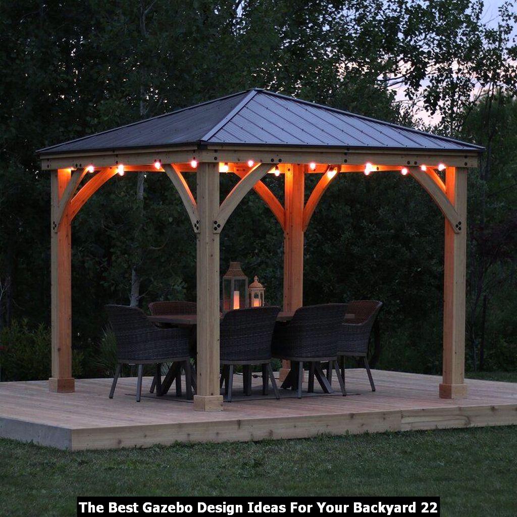 The Best Gazebo Design Ideas For Your Backyard 22