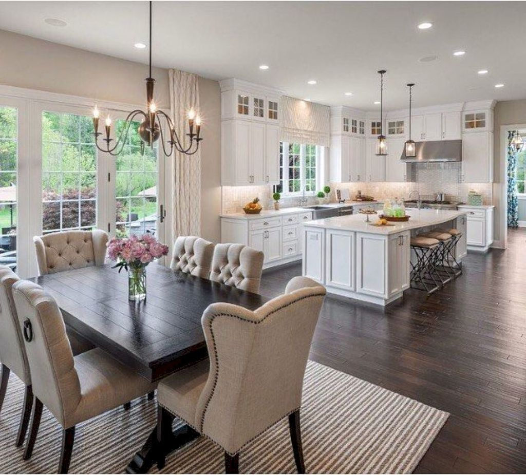 The Best Open Dining Room And Kitchen Design Ideas 22