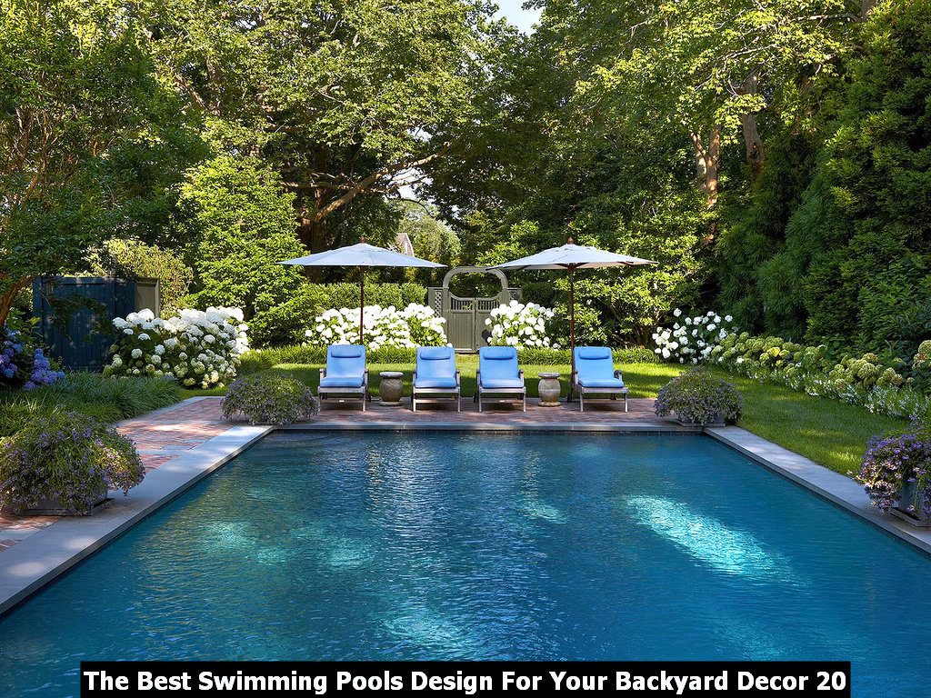 The Best Swimming Pools Design For Your Backyard Decor 20