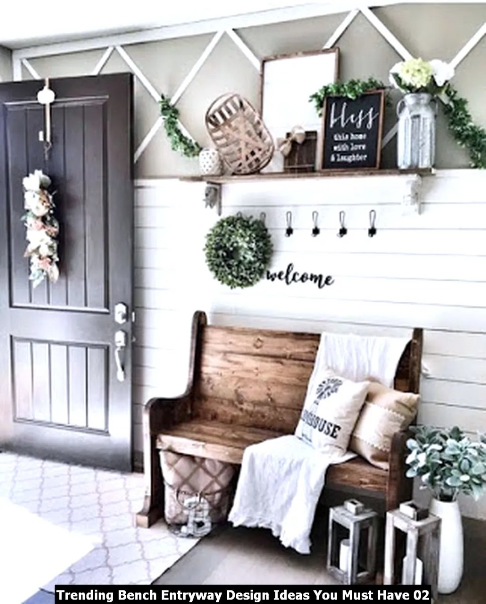 Trending Bench Entryway Design Ideas You Must Have 02