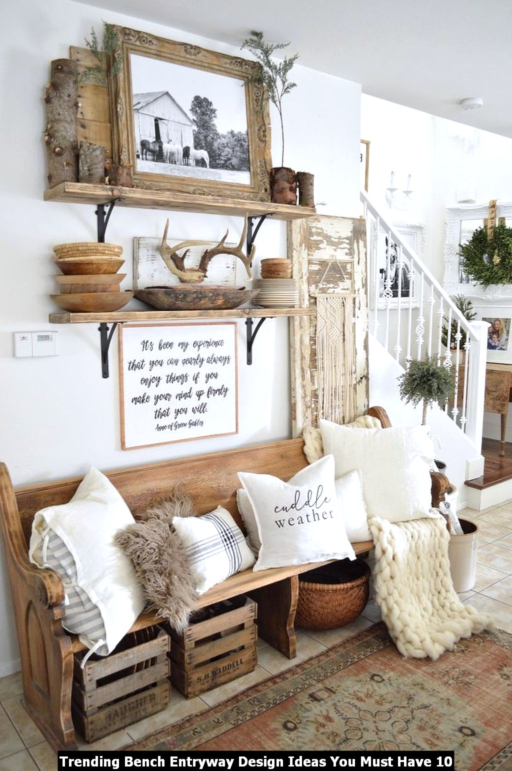 Trending Bench Entryway Design Ideas You Must Have 10