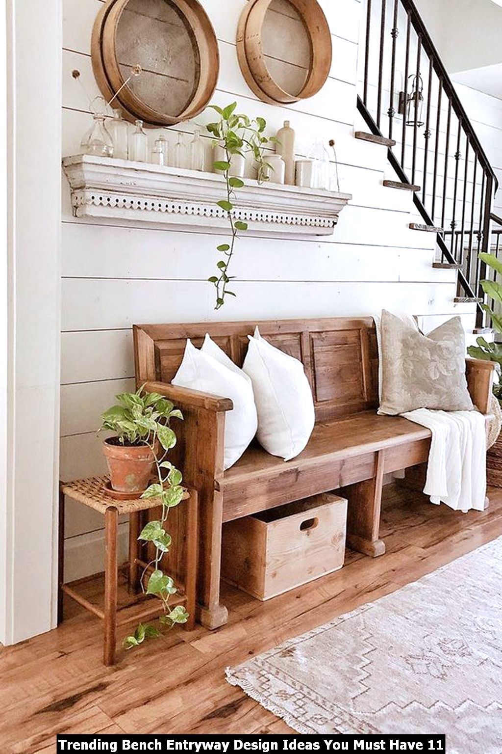 Trending Bench Entryway Design Ideas You Must Have 11