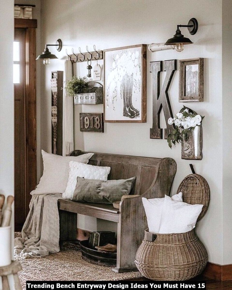 Trending Bench Entryway Design Ideas You Must Have 15