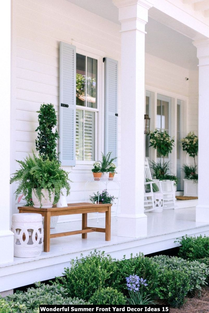 Wonderful Summer Front Yard Decor Ideas 15