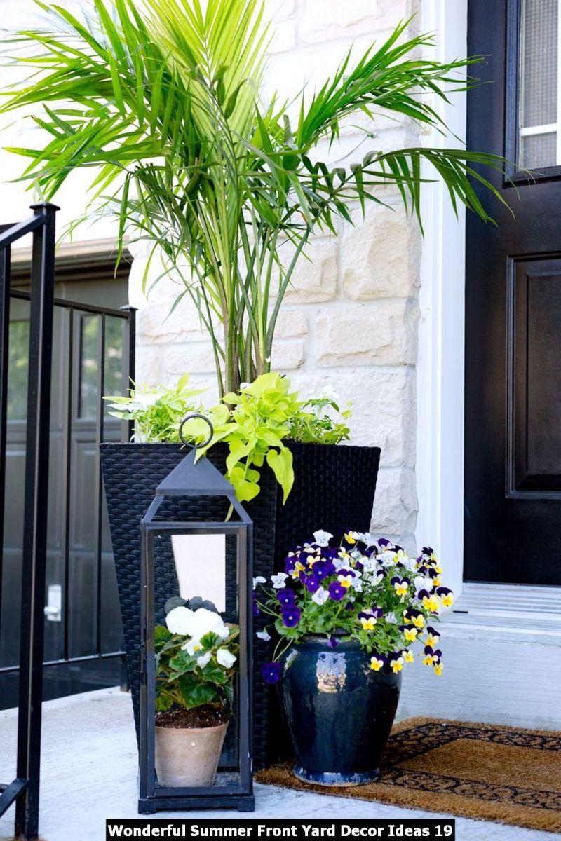 Wonderful Summer Front Yard Decor Ideas 19
