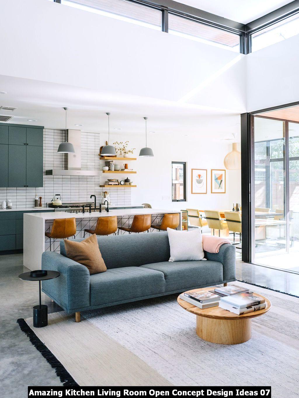 Amazing Kitchen Living Room Open Concept Design Ideas 07