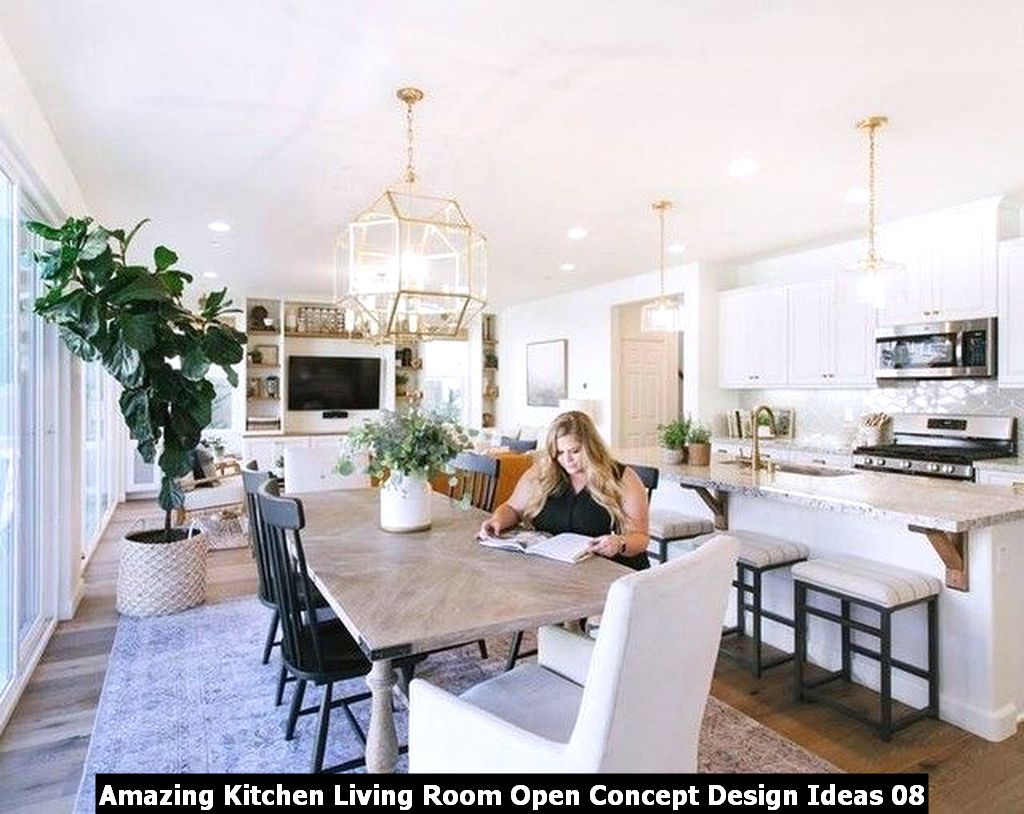 Amazing Kitchen Living Room Open Concept Design Ideas 08