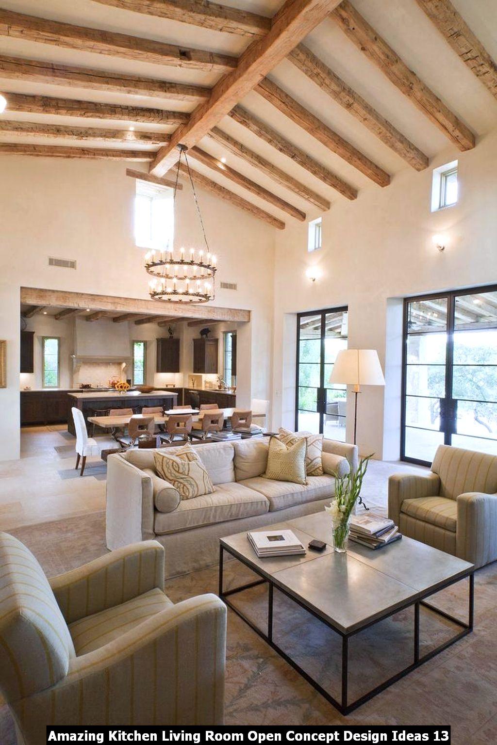 Amazing Kitchen Living Room Open Concept Design Ideas 13