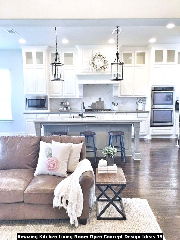 Amazing Kitchen Living Room Open Concept Design Ideas 15
