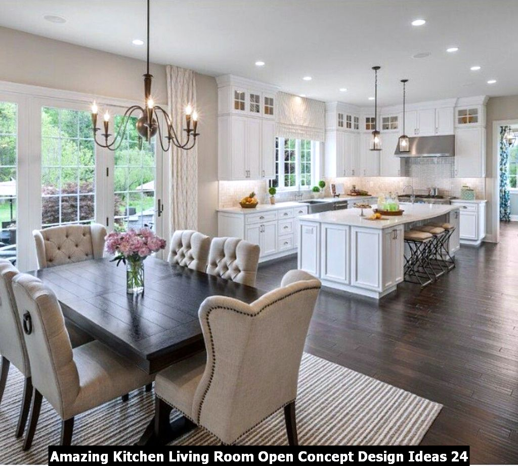 Amazing Kitchen Living Room Open Concept Design Ideas 24