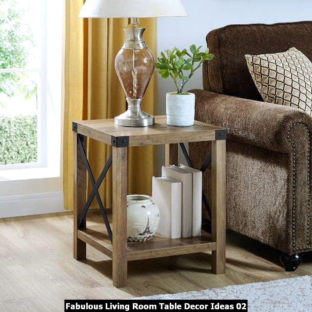 Fabulous Living Room Table Decor Ideas 02