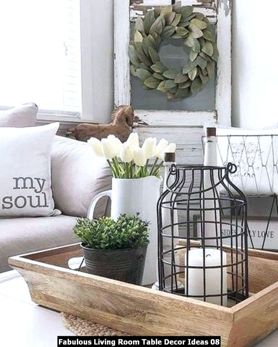 Fabulous Living Room Table Decor Ideas 08