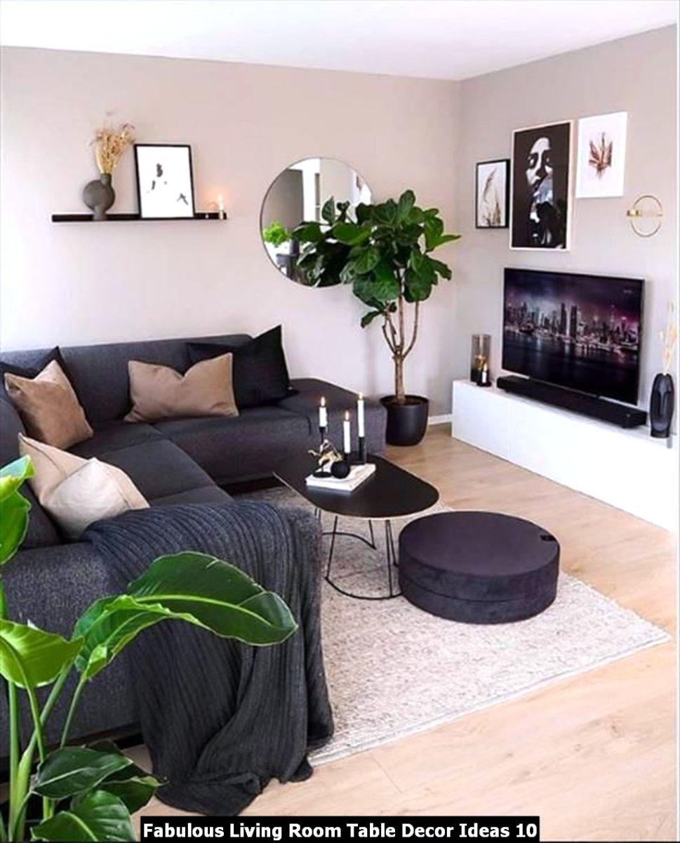 Fabulous Living Room Table Decor Ideas 10
