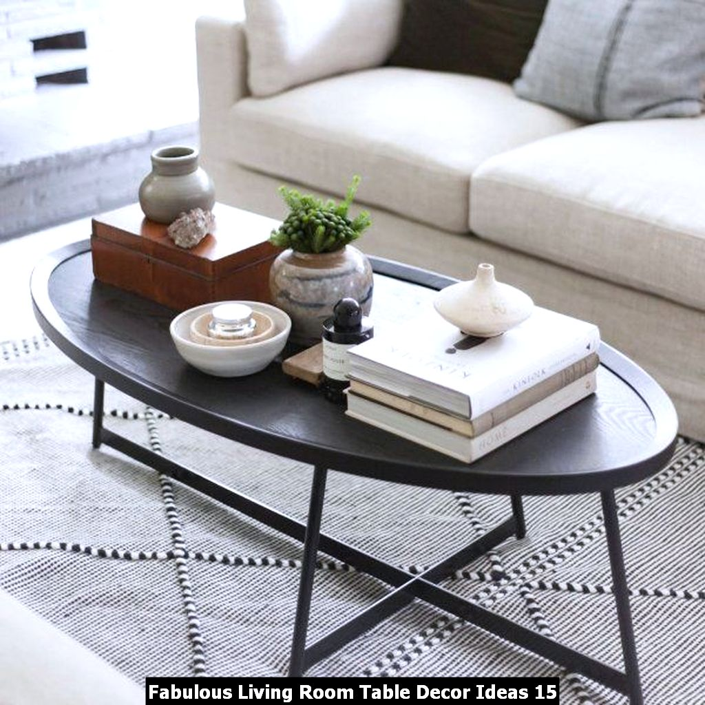 Fabulous Living Room Table Decor Ideas 15