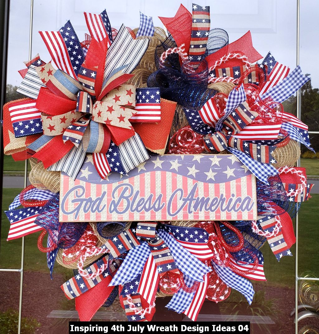 Inspiring 4th July Wreath Design Ideas 04