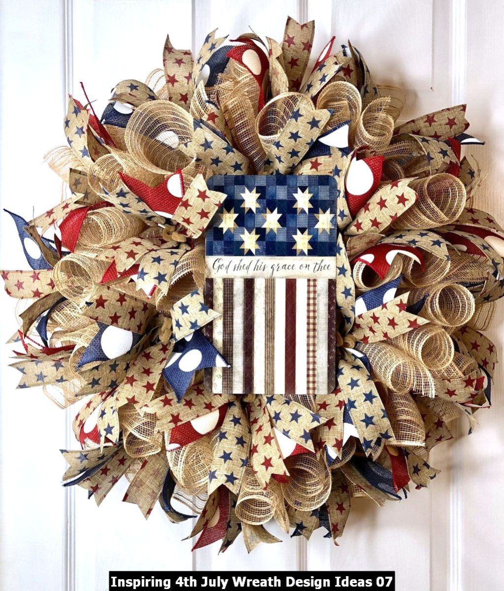 Inspiring 4th July Wreath Design Ideas 07
