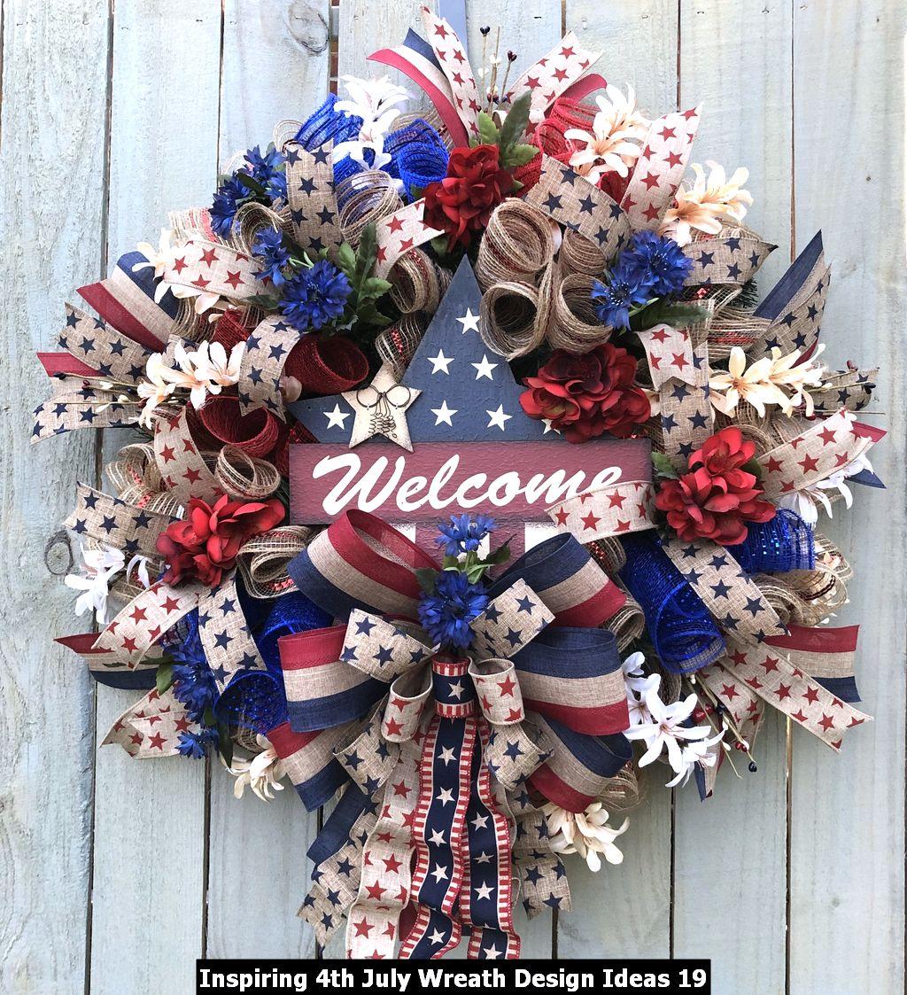 Inspiring 4th July Wreath Design Ideas 19
