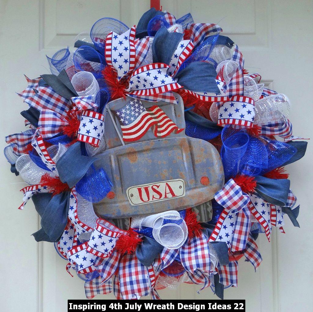 Inspiring 4th July Wreath Design Ideas 22