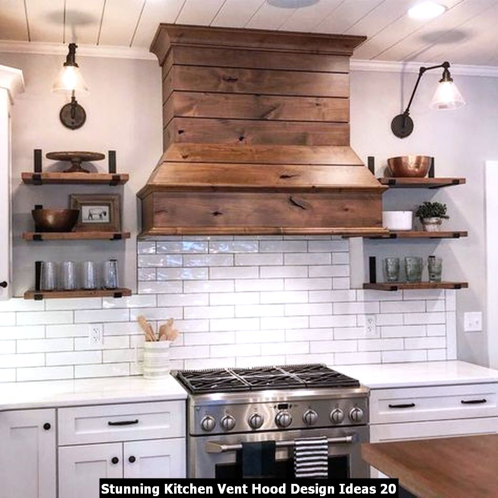 Stunning Kitchen Vent Hood Design Ideas 20