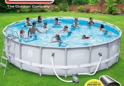 Coleman Power Steel Frame Above Ground Swimming Pool Set