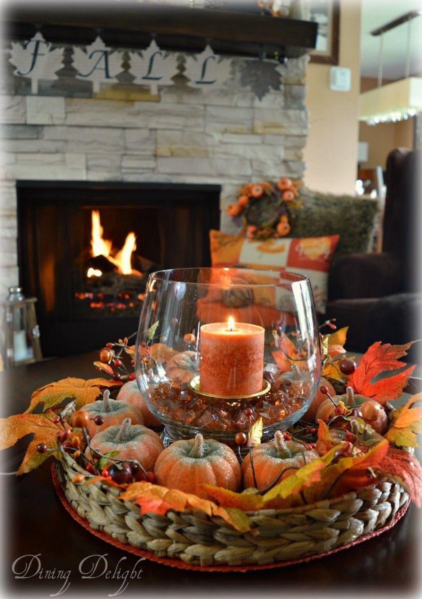 Fall Coffee Table Decor