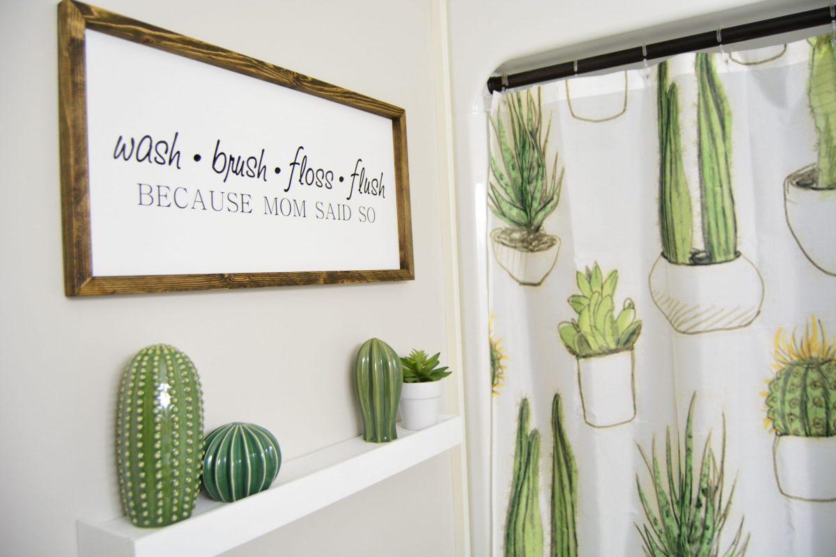 Cactus Bathroom Decor