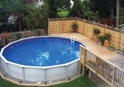 Backyard Above Ground Swimming Pool
