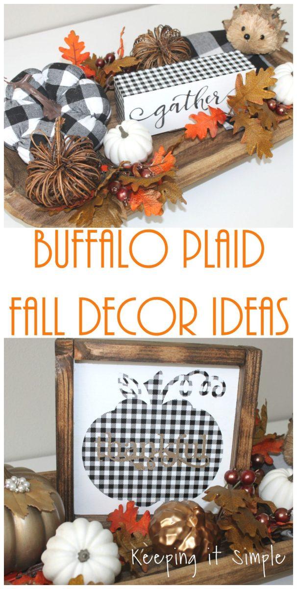 Buffalo Plaid Fall Decor