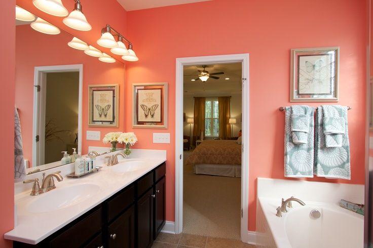 Coral Bathroom Decor