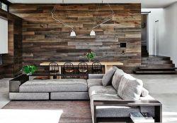 Living Room Wood Wall