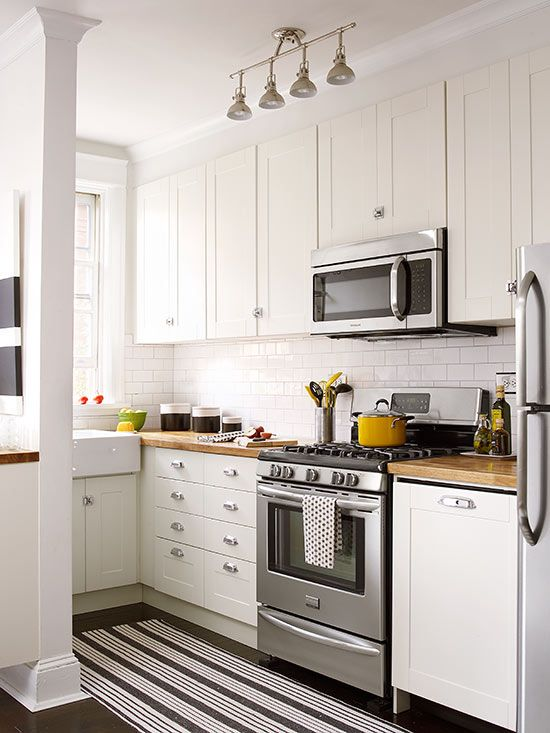 Small Kitchen White Cabinets