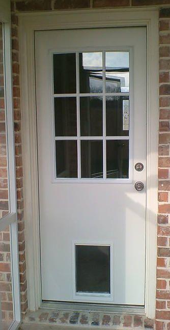 Exterior Door With Built In Pet Door Lowe's